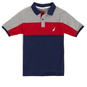 BOYS' BREEZE JERSEY PIQUE HERITAGE POLO